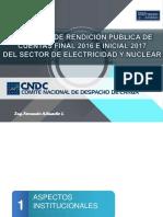 Audiencia de Rendición Pública de Cuentas Final 2016 - Inicial 2017 - CNDC