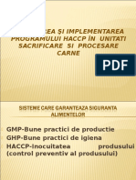 Prezentare HACCP an IV
