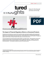 Structured Thoughts - Issue 9 - Impact of Financial Reform on St Prod