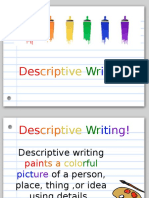 prese descriptive writing ela