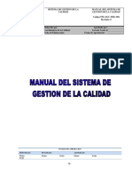 Manual Del Sistema de Gestion de La Calidad