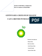 British Petroleum- Gestionarea crizelor de imagine