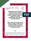 Ruta crítica para la atención de casos de violencia familiar y de género relacionados con mujeres indígenas originarias y migrantes internas