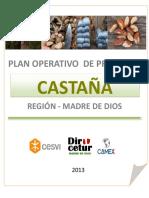 Plan Operativo de Castaña Madre de Dios 2013