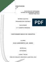 Cuestionario de Organización Contable.