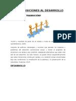 Las Transiciones Al Desarrollo