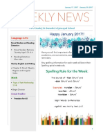 weekly newsletter- january 17-20