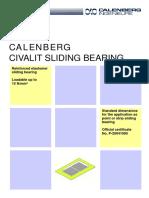 2.CALENBERG Vibration Insulation Bearings Civalit Sliding Bearing En