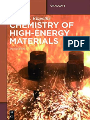 Chemistry of High-Energy Materials 3rd ed - Thomas M