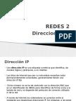 REDES 2 Direcciones IP