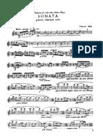 Tiberiu Olah, Sonata for Clarinet Solo