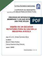 Diseño Secador Rotatorio Para La Industria Avicola