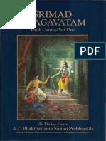 Srimad-Bhagavatam Tenth Canto Volume 1