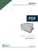 Kyocera FS1000 En