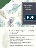 Sociological Literary Criticism