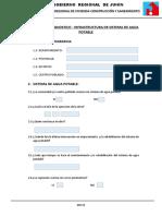 Ficha Tecnica de Diagnostico de Infrestructura de Sistema de Agua Potable