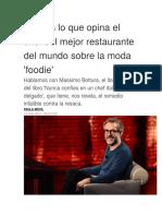Esto Es Lo Que Opina El Chef Del Mejor Restaurante Del Mundo Sobre La Moda