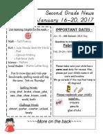 january 16-20 2017