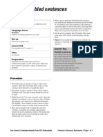 Four Corners Level3 Unit7 Scrambled Sentences Teachers Resource Worksheet1