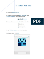 How to Install WTE