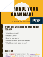 Overhaul Your Grammar