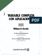 Analisis en Variable Compleja, Derrick