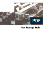 Wet Storage Stain on Galvanized Steel