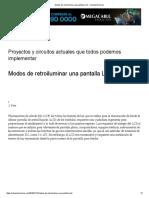 Modos de Retroiluminar Una Pantalla LCD « Soloelectronicos