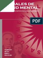 ANALES DE SALUD MENTAL Lima, Perú-2010-Volumen XXVI. Nro. 1 .pdf