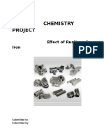 Front Page of Chemistry Project class 12th