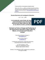 La Vinculación Como Factor de Imagen y