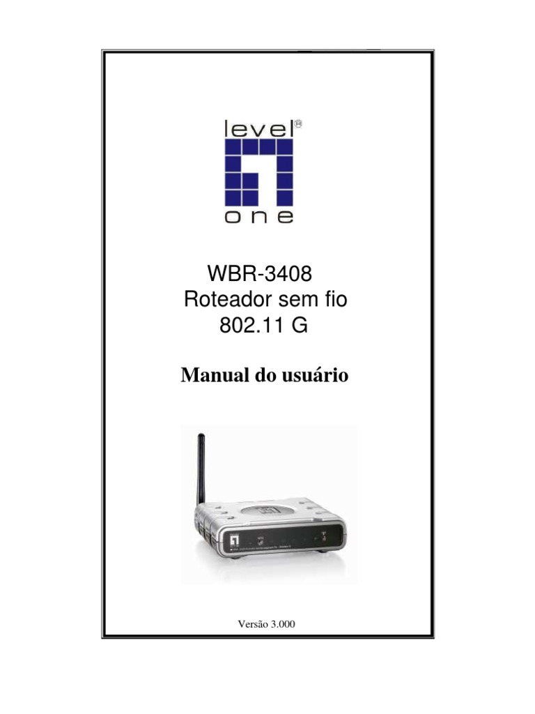 download firmware level one wbr 3408