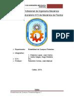 Laboratorio n5 Estabilidad de Cuerpos Flotantes