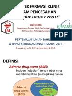 Praktek Farmasi Klinik Pencegahan ADE- Revisi