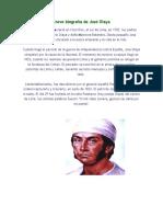 Breve Biografía de José Olaya