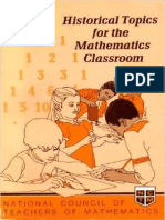 Historical Topics for the Mathematics Classroom