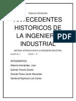 Antecedentes de La Ing. Industrial