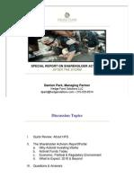 Special Report on Shareholder Activism