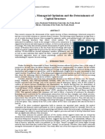Overconfidence, Managerial Optimism and the Determinants of Capital Structure