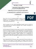 Decreto 25-2005 Reformas y Adiciones Al Reglamen