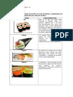 Catalogo de Sushi