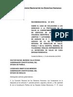 Recomendación completa CNDH 58 /2016