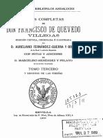 Obras Completas de Don Francisco de Quevedo Villegas