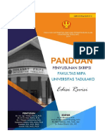 Buku Panduan Penulisan Skripsi Fmipa Universitas Tadulako Revisi Terakhir Siap Cetak 22.11.2016 b