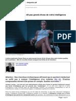 Atlantico.fr - Pourquoi Votre Qi Ne Dit Pas Grand-chose de Votre Intelligence Desole Sharon. - 2013-02-22