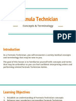introduction to formula technitian and concepts - module 1