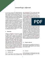 Immunologic Adjuvant