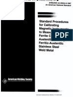 267660383 AWS A4 2 Standard Procedures for Calibrating Magnetic Instruments to Measure the Delta Ferrite Content of Ferritic Austenitic Stainless Steel Weld M