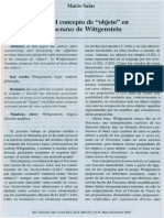 Sobre El Concepto de Objeto en El Tractatus de Wittgenstein