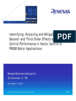 Renesas 2012 - Identifying, Analyzing and Mitigating First-, Second- And Third-Order Effects on Motor Control Performance in Vector Control of PMSM Motor Applications